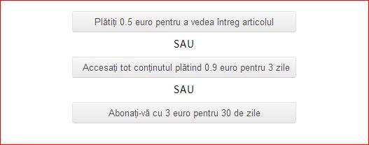 Deșteptarea introduce plata pe site