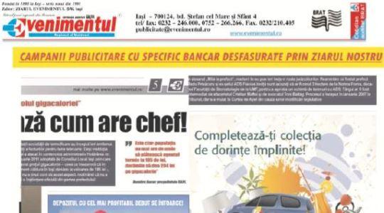 Bacău: Anunțuri de mică și mare publicitate în Evenimentul Regional al Moldovei